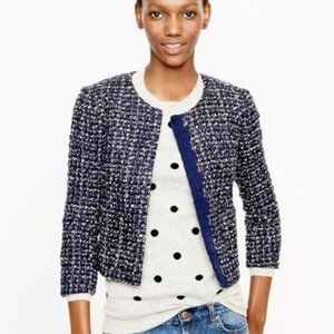J. Crew Midnight Tweed Jacket Size 8 New